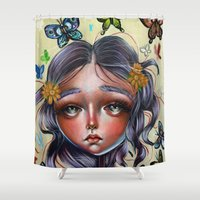 Chrysalis And Butterflie… Shower Curtain