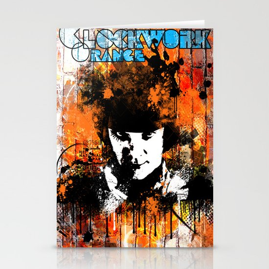 Clockwork Orange Stationery Card