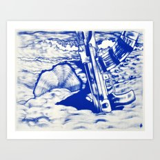 AK47 Beach Party Art Print
