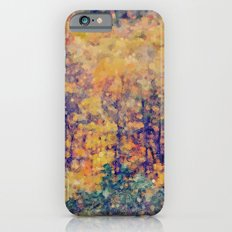 Autumn Woods Abstract -- Colorful Foliage iPhone 6 Slim Case