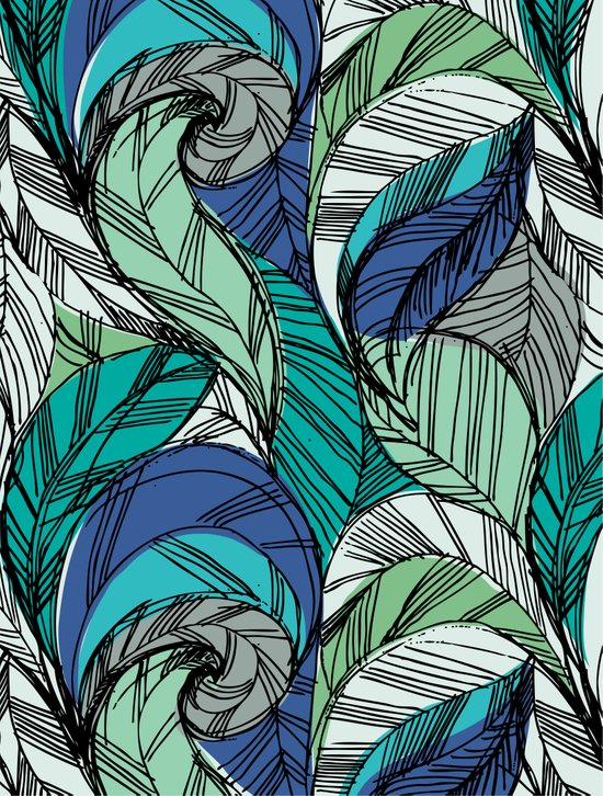 Striped_Feather_Cool Art Print