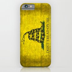 Gadsden Don't Tread On Me Flag - Distressed version iPhone 6 Slim Case