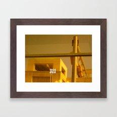 311 Window Framed Art Print