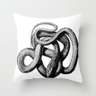 The Snake Throw Pillow