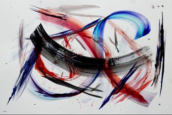 Acryl-Abstrakt 33 Art Print
