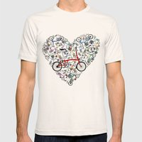 I Love Brompton Bikes Mens Fitted Tee Natural SMALL
