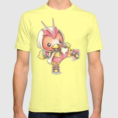 Get a Kick Outta This! Mens Fitted Tee Lemon SMALL
