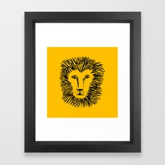 Heart of a Lion Framed Art Print