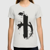 simmetry 1 Womens Fitted Tee Silver SMALL