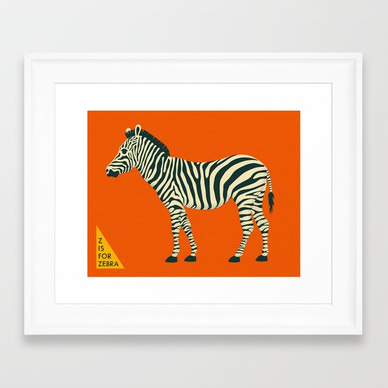 Z is for Zebra Framed Art Print