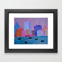 Harbour Monsters Framed Art Print