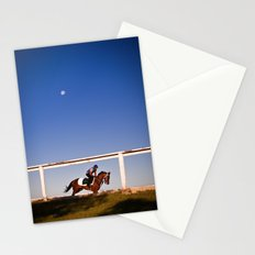 A rider and a horse Stationery Cards