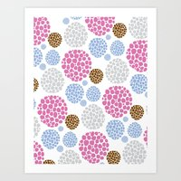 Stone Age Print- pink Art Print