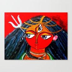 Durga, The Warrior Goddess 2: Commissioned art Canvas Print