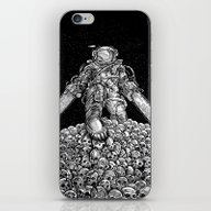 iPhone & iPod Skin featuring Texas Chainsaw Astronaut… by Nick Volkert