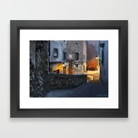 Confidences corner Framed Art Print