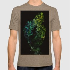 Cellular Automata Mens Fitted Tee Tri-Coffee SMALL