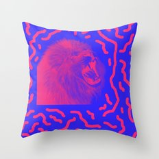 Lion Time Throw Pillow
