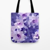 Abstract Floral In Blue … Tote Bag