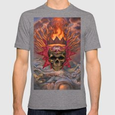 Worm Crown Mens Fitted Tee Tri-Grey SMALL