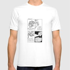 Worst Case Scenarios White Mens Fitted Tee SMALL