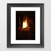 Misan Intranced By Fire.… Framed Art Print