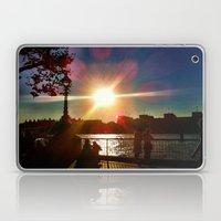 Sunset on the Bank Laptop & iPad Skin