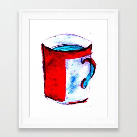big coffee cup Framed Art Print