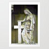 Green Angel Art Print