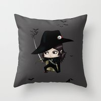 Chibi D Throw Pillow