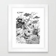 Cycloptic Samurai Framed Art Print