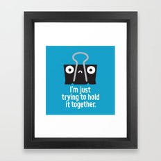 Get a Grip Framed Art Print