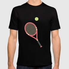 #19 Tennis Mens Fitted Tee Black SMALL