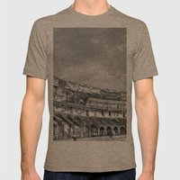 Inside Of The Colosseum Mens Fitted Tee Tri-Coffee SMALL