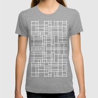 Stained Glass W Womens Fitted Tee Tri-Grey SMALL