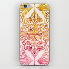 Sunset Art Nouveau Watercolor Doodle iPhone & iPod Skin
