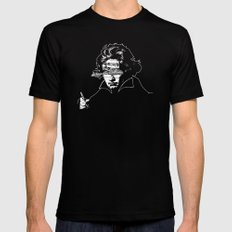 Ludwig van Beethoven · red10 Mens Fitted Tee Black SMALL