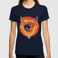 Geometric Fox Womens Fitted Tee Navy SMALL