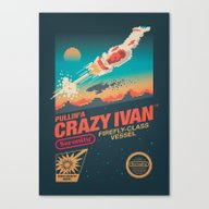 Canvas Print featuring Crazy Ivan by Victor Vercesi