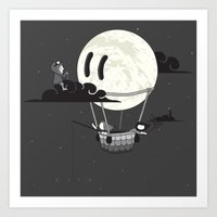 You Should See The Moon … Art Print