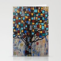 :: Stained Glass Tree :: Stationery Cards