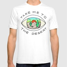 TAKE ME TO THE DESERT SMALL Mens Fitted Tee White