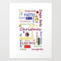 Christmas Message Art Print