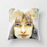Francoise Hardy Throw Pillow