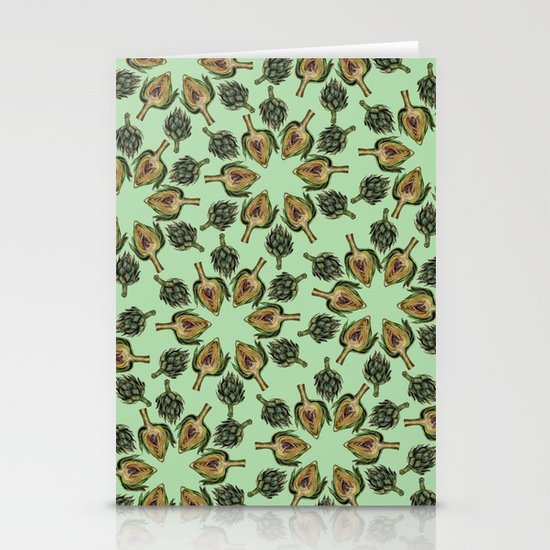 Swirling Artichokes Stationery Card
