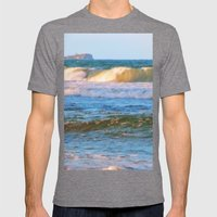 Rolling wave and headland Mens Fitted Tee Tri-Grey SMALL