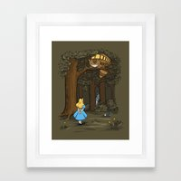My Neighbor in Wonderland Framed Art Print
