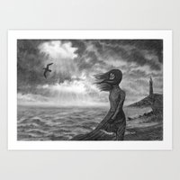 The Lighthouse Keeper's … Art Print