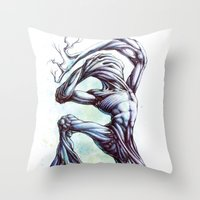 TreeMan Throw Pillow