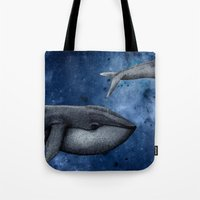 The Whale Who Met  Itself. Tote Bag